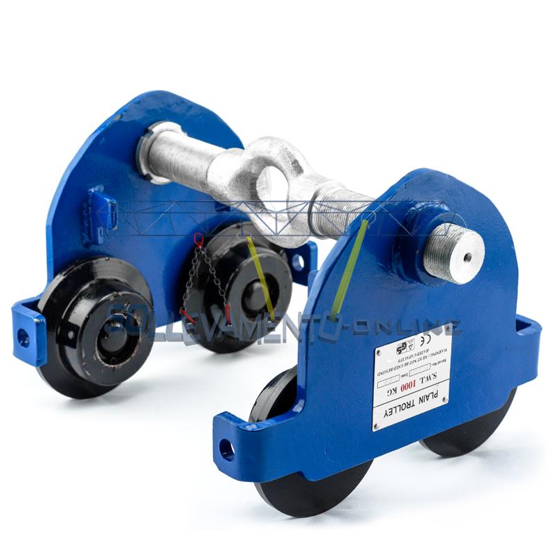 Carrelli porta paranco sollevamento online for Paranco elettrico 1000 kg